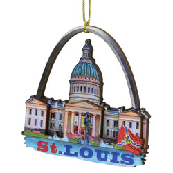 3D Saint Louis Christmas Ornament
