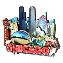 3D Chicago Magnet