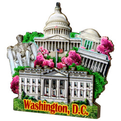 3D Washington DC Magnet