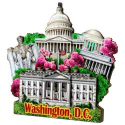 3D Washington DC Magnet