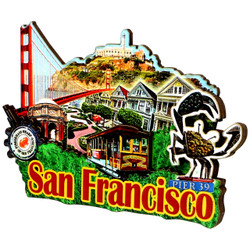 3D San Francisco Magnet