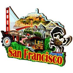 3D San Francisco Magnet