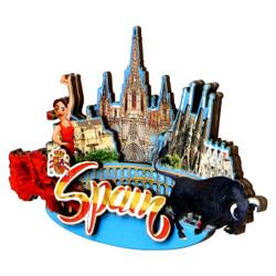 3D Spain Magnet
