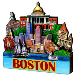 3D Boston Magnet