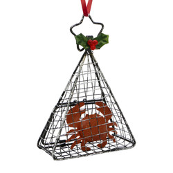 Wire Crab Cage Christmas Ornament