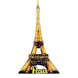 Wooden Eiffel Tower Ornament 3D Jumbo