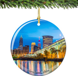 Cleveland Christmas Ornament