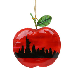 Tin Big Apple Skyline Ornament