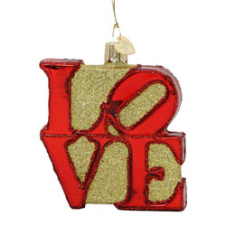 LOVE Glass Ornament