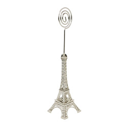 Metal Eiffel Tower Statue Photo & Memo Clip