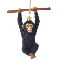 Furry Monkey Christmas Ornament