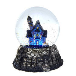 Haunted House Halloween Snow Globe