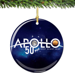 NASA 50th Anniversary Apollo Christmas Ornament
