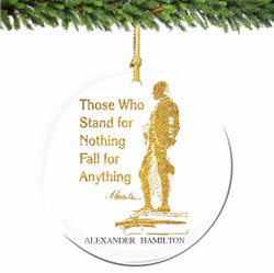 Hamilton on Broadway Christmas Ornament with Quote