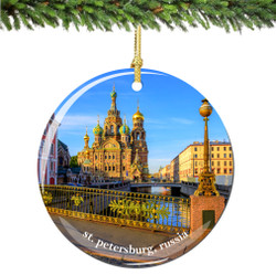 St. Petersburg Russia Christmas Ornament