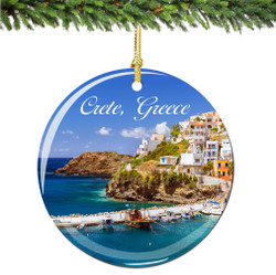 Crete Greece Christmas Ornament