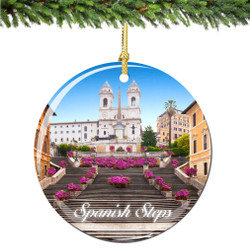 Spanish Steps Rome Italy Christmas Ornament