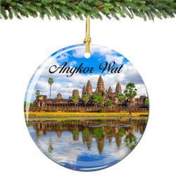 Angkor Wat Cambodia Christmas Ornament