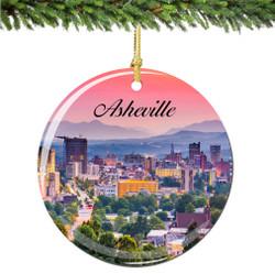 Asheville North Carolina Christmas Ornament