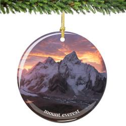 Mount Everest Christmas Ornament