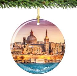 Valletta Malta Christmas Ornament