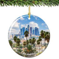 Los Angeles Christmas Ornament