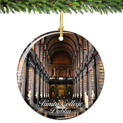 The Old Library at Trinity College, Dublin, Ireland Christmas Ornament
