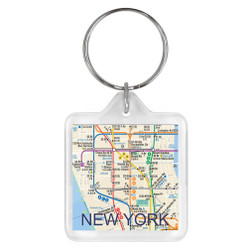 NYC MTA Subway Map Keychain