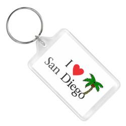 I Heart San Diego Keychain