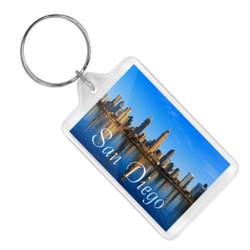 San Diego Skyline Keychain