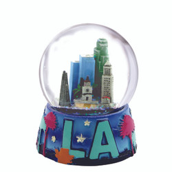 Los Angeles Skyline Snow Globe 2.5 Inches