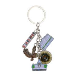Metal Washington DC Key Chain 5 Charms