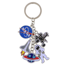 Metal NASA Key Chain 5 Charms