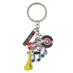 Metal Cleveland Ohio Key Chain 5 Charms