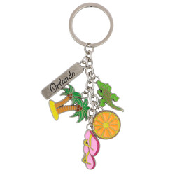 Metal Orlando Florida Key Chain 5 Charms