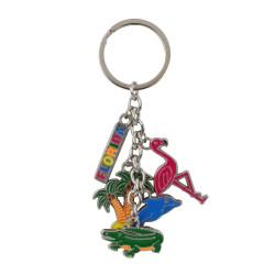 Metal Florida Key Chain 5 Charms