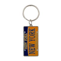 Metal New York License Plate Key Chain