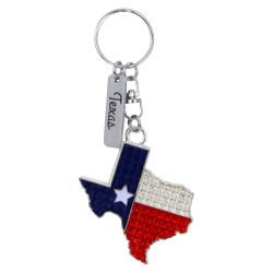 Metal Texas State Key Chain