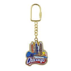 Metal Chicago Key Chain