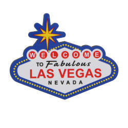 Las Vegas Magnet Wooden 3 Inches