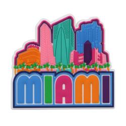 Laser Cut 3D Miami Magnet