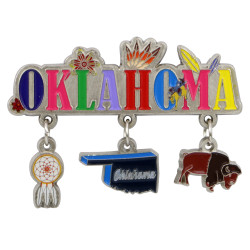 Metal Fort Lauderdale Magnet 3 Charms