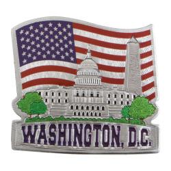 Washington DC Silver Magnet