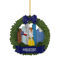 Houston Christmas Ornament Wreath