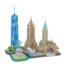 New York City Puzzle Skyline 3D Design