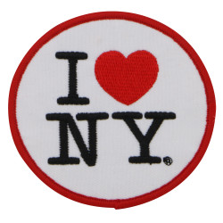 I Love NY Patch Embroidered