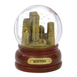 Gold Boston Snow Globe 3.5 Inches