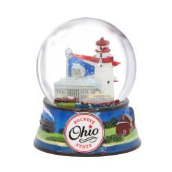 Ohio Buckeye State Snow Globe 3.5 Inches