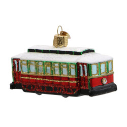 Trolley Christmas Ornament