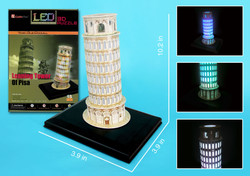 Leaning Tower of Pisa Puzzle Light-Up 3D Model